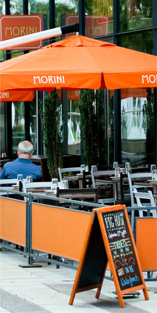 Insignia on M apartments are located in DC's Navy Yard a vibrant neighborhood with phenominal dining options like Morini