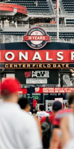 Our luxury apartment community is located within walking distance of Nationals Stadium.