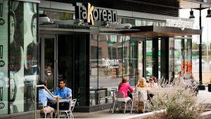 Sidewalk seating adds an urban flair to the creative dishes at TaKorean.