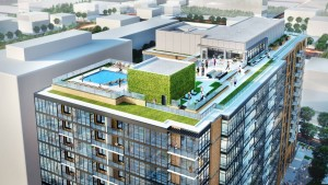 Our gorgeous rooftop deck features a resort-style pool, sitting areas, grilling stations and more.