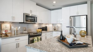 Cook and entertain in our gourmet kitchens with stone countertops, glass-tile backsplashes, and stainless steel GE® ENERGY STAR® appliances
