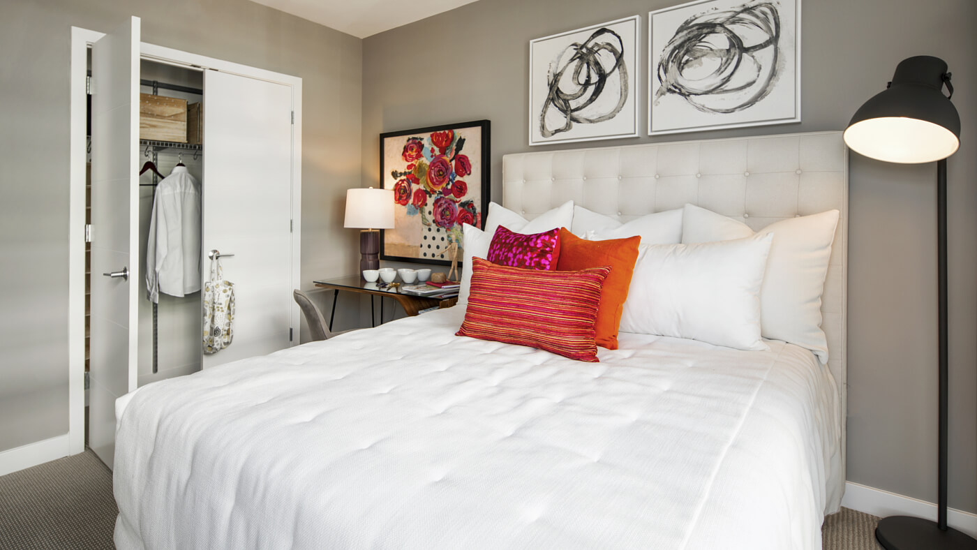 Expansive bedrooms with customizable walk-in closets.