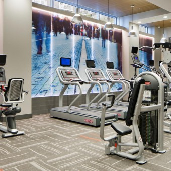 Get a sweat on in our Health club-caliber fitness center equipped with cardio, weight machines and complimentary towel service.