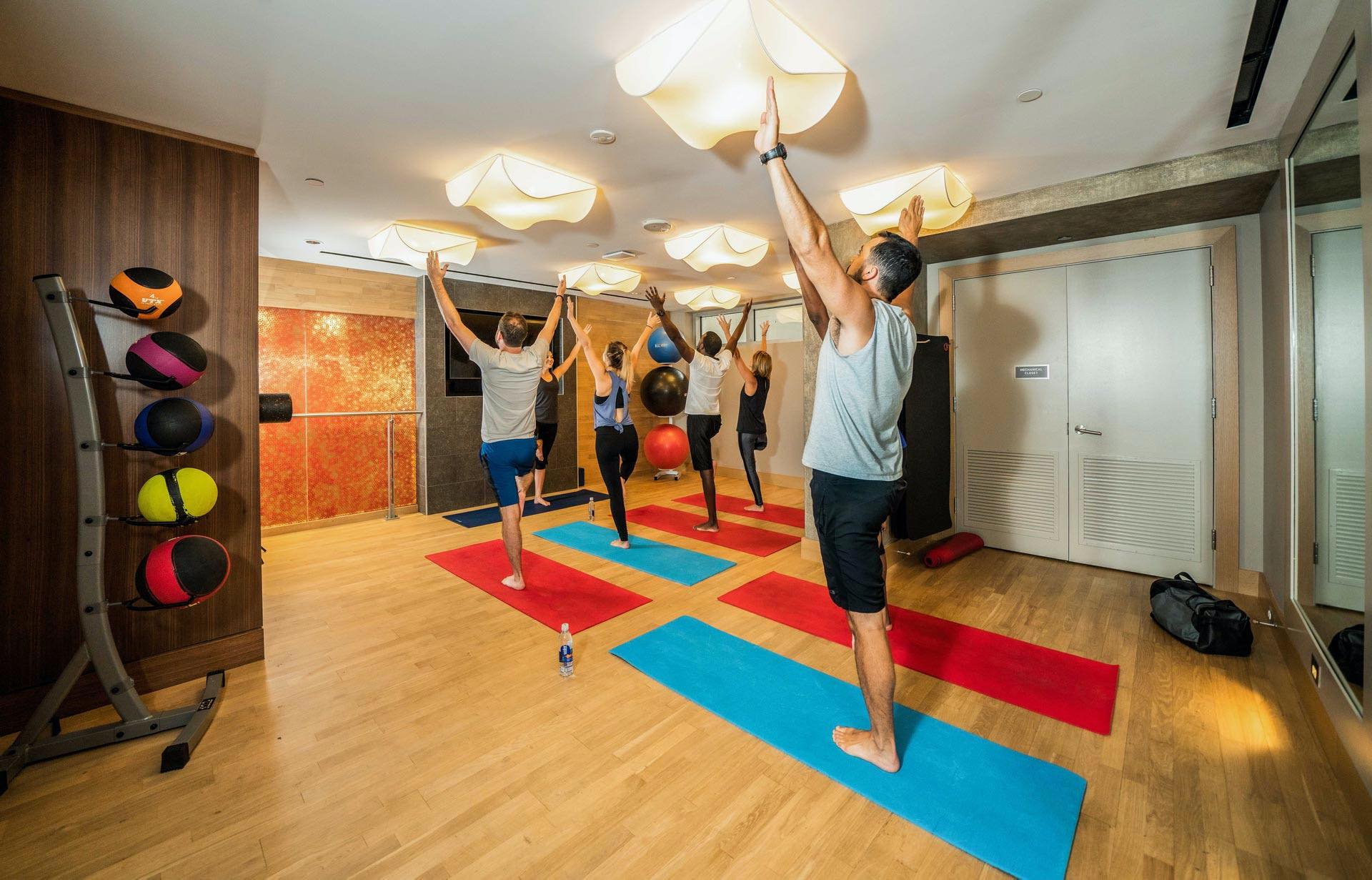 Stretch out in our expansive yoga room.