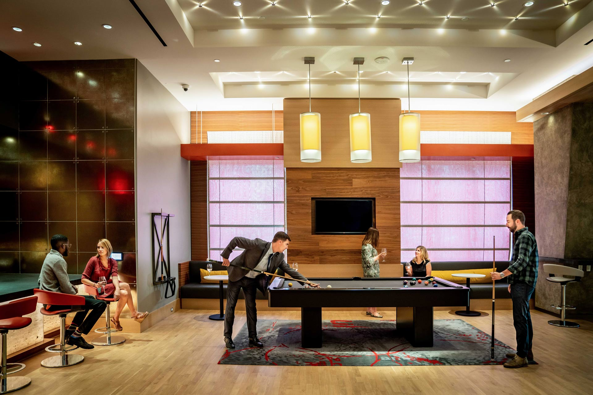 Hang out and play pool with neighbors in our clubroom.