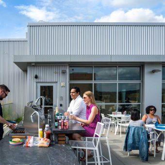 Our rooftop deck is the perfect place to entertain