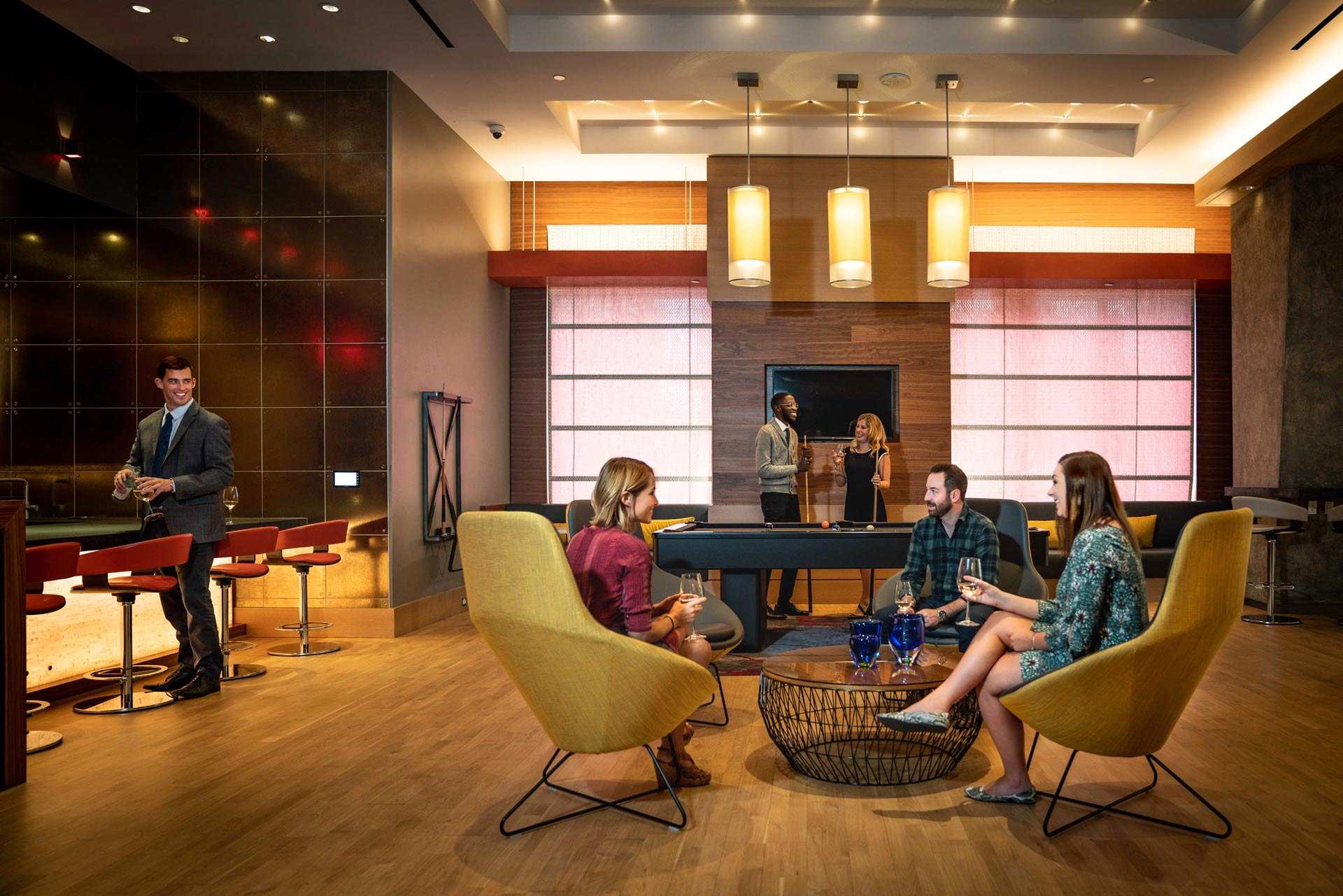 Our clubroom is the perfect spot to relax with friends.